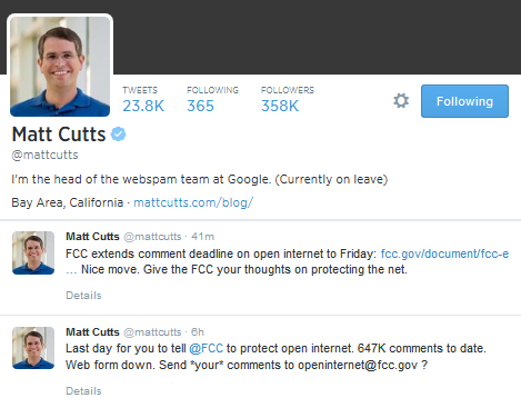 MattCuttsTwitter