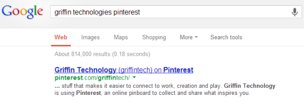 Example of Pinterest Link Indexed in Google | Why NoFollow Links Matter
