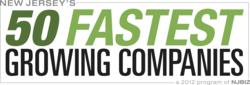 50 Fastest Growing Companies Logo | Teknicks One of New Jersey's 50 Fastest Growing Companies of 2012