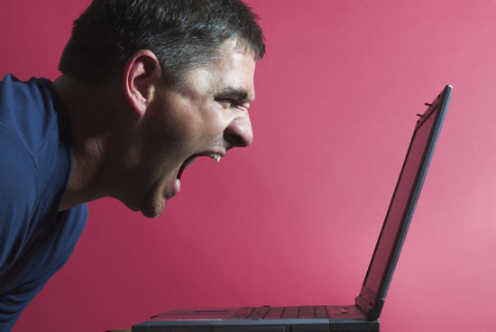 Screaming at Computer | 4 Steps to Proving to Your Boss That You Need SEO Help