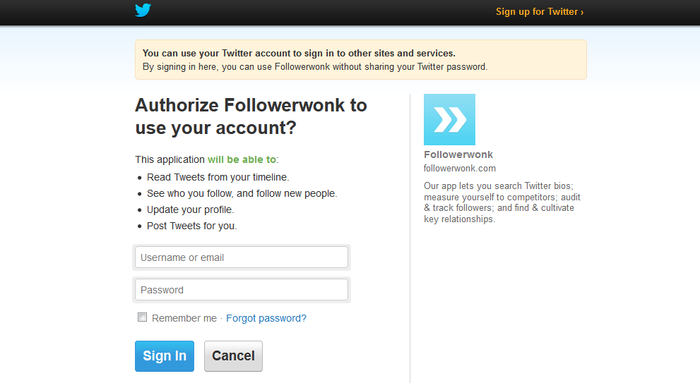 Twitter Login | Link Building Strategy
