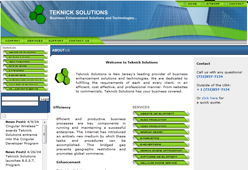 Teknick Solutions First Website 2004 | Teknicks 10 Years Of Lessons From The Founder